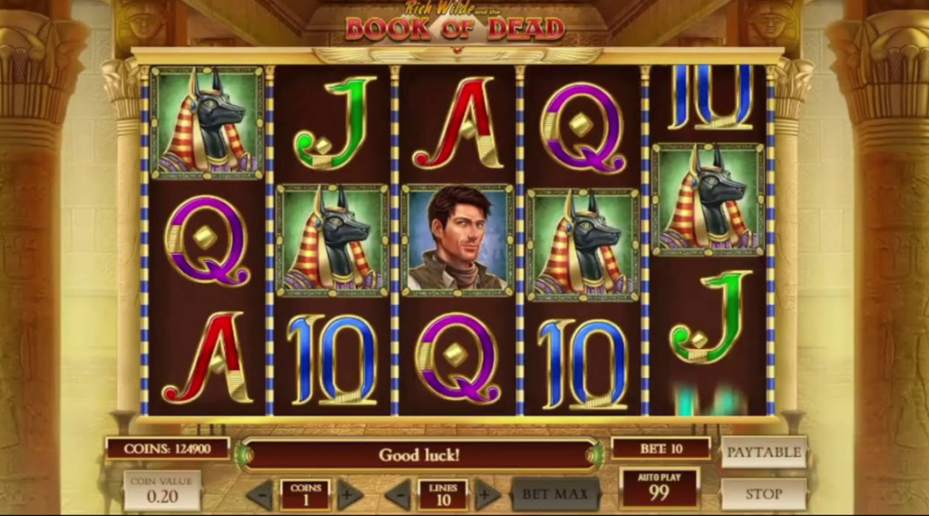 online casino slot dead of book